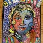 Mixed Media Portrait for Grade 5